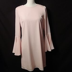 Pale pink dress Bell sleeves size Xs
